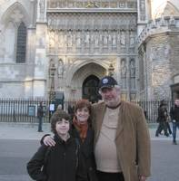 Family at Westminster Abbey