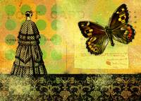 Victorian Butterfly Collage