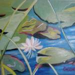 """Graphic Waterlily"" by CDarleneCollins"