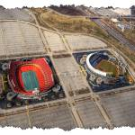 """Arrowhead and Kaufman Stadiums"" by BKap"