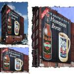 """Hometown Brews Building Signage Triptych"" by BKap"