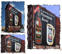 Hometown Brews Building Signage Triptych