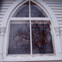 Reflection Through Old Church Window Art Prints & Posters by Amber Brockopp