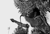 Theater homage, Jerry Rubin, preaching anarchy, Tu