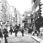 """Temple Bar District in Dublin Stamp"" by samisart"