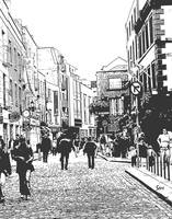 Temple Bar District in Dublin Stamp