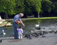 Feeding the Pidgeons in Stephens Green