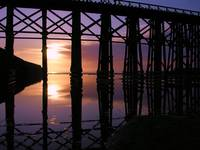 Fort Bragg Beach Tressel at Sunset