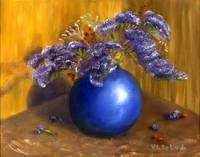 Impressionist Art; Purple Flower Still Life