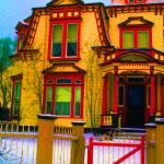 """Art homage, Peter Max, Victorian house, Georgetown"" by davidleeguss"