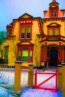 Art homage, Peter Max, Victorian house, Georgetown