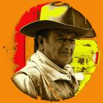 """Art homage, Andy Warhol 1, John Wayne, Old Tucson"" by davidleeguss"