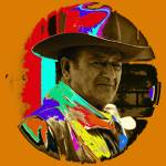 """Art homage, Andy Warhol 2, John Wayne, ""Rio Lobo"""" by davidleeguss"