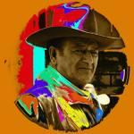 """Art homage, Andy Warhol 2, John Wayne, ""Rio Lobo"""" by davidleeguss"