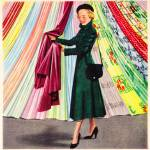 """Choosing a Plastic Fabric; 1948 ad; artist unknown"" by arcaniumantiques"