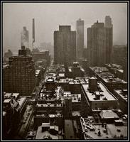 Looking East On A Snowy Day, New York City 2009