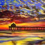 """""""Sunset Pier"""" by CDarleneCollins"""