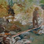 """Crossing The Creek"" by PeterWorsley"