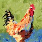 """Rooster II"" by LeslieSaetaFineArt"