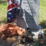 """Elvis Presley, An American Trilogy,  WW2 vet grave"" by davidleeguss"
