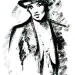 """Lady in Hat"" by AbinRaj"
