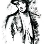 """Lady in Hat"" by AbinRaj"