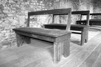 Slave Church Pews Black and White