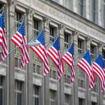 """Flags in a building of New York city"" by alopezc72"