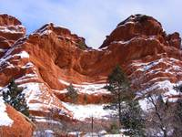 Snow on Garden of the Gods 0949