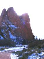 Snow on Garden of the Gods 0956