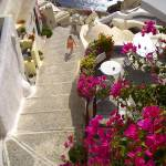 """Woman in Santorini"