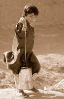 Close Up: Girl Carrying Water, Afghanistan