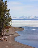 Yellowstone Lake with Ice