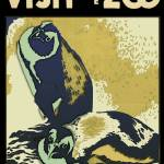 """Visit the Zoo: Layered Penguin Fresco"" by mdigman"