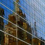 """Reflection of 320 S. Boston Building"" by vineyard"