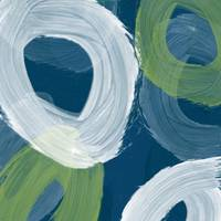 Abstract Blue swhirls I