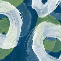 """Abstract Blue swhirls II"" by rickimountain"