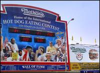 Nathan's Hot Dog Eating Contest, Coney Island - Br