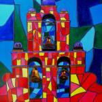 """Three Bells of San Jose Mission Mosaic"" by artbypatti"