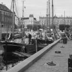"""Nyhavn Boat Scene - Wide View"" by VaughnBullard"
