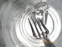 Glass,water and a fork