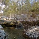 """Deer Creek Falls Winter Panorama"" by janesprints"