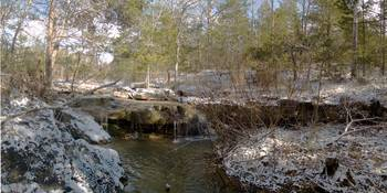 Deer Creek Falls Winter Panorama