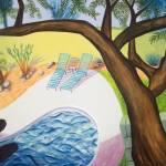 """""""Olive Tree Over Pool (Borderless Print)"""" by pfleghaar"""