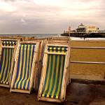 """Deckchairs at Bournemouth"" by simonart"