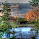 """Frozen lake in Lillehammer Norway"" by Punchup"