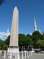 Obelisk and the Blue Mosque, Istanbul, Turkey