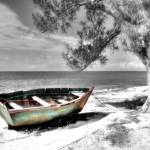 """Beached Boat Handcolor"" by Cynthia_Burkhardt"