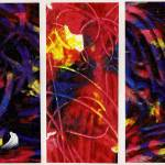 """Abstract Expressionist Triptych"" by Largelyart"