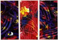 Abstract Expressionist Triptych